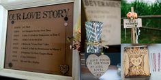 Wood Burned Wedding - DIY - Wedding Décor - Rustic Wedding - DIY Wedding -Our Love Story - Direction Signs - Guest Book - Beverage Sign - Fun Straws