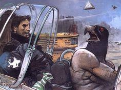 Comics Wallpaper : Enki Bilal - The Nikopol Trilogy Art And Illustration, Fantasy Kunst, Fantasy Art, Enki Bilal Bd, Steam Punk, Heavy Metal Comic, Tv Movie, Book Creator, Comic Book Collection