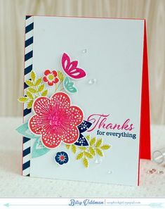 Thanks For Everything Card by Betsy Veldman for Papertrey Ink (September 2014)