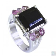 Riyo Tough Tourmaline 925 Solid Sterling Silver Multi Ring Srtou7-84099