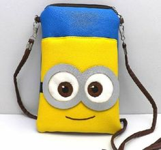 Ich Einfach Unverbesserlich Minion PU kleine Umhängetasche Handytasche kleine süße Tasche bag 20CM: Amazon.de: Spielzeug