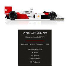 Ayrton Senna - 1988 McLaren Honda MP4/4 - Geek version