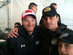 Dale Earnhardt Jr. & Skeet Ulrich (Ricky Rudd's nephew) @ Texas Motor Speedway 2014 during the 50 to 1.movie bus tour.