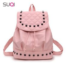 SUQI Summer Washed Leather Shoulder Bag Fashion Korean Female Mini Backpack Teenage Girl Mochila Escolar Women Backpack(China (Mainland))