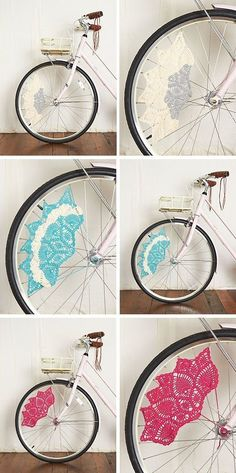 Add some cute crochet to your wheel spokes.