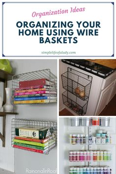 Wire Basket Decor, Black Wire Basket, Basket Decoration, Wire Baskets, Storage Containers, Storage Baskets, Bathroom Makeup Storage, Home Carpet, Makeup Room Decor