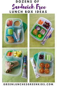 Dozens of Sandwich Free Lunchbox Ideas from a mom of three who has been sharing school lunches for over four years! Lunch Ideas for kids who don't like sandwiches!