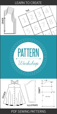How a sewing pattern is created from initial concept through to design, drafting, digitizing the pattern, testing, revisions and eventual release.