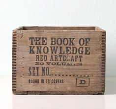 """""""The Book of Knowledge"""" Box"""