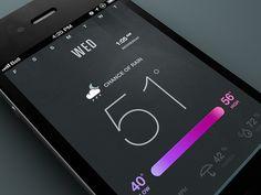 UI Mobile Weather App Flat Design