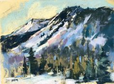 Plein Air Painting in the Snow, painting by artist Karen Margulis