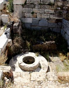 the ruins of #Demeter's #Well at the Temple of Eleusis in Greece