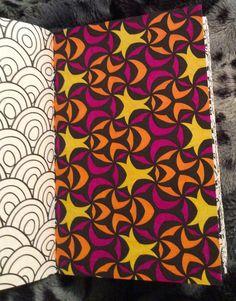 """Kleurplaat uit """"het enige echte minikleurboek voor volwassenen"""" door Aurélie."""