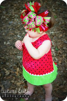 Complete Outfit Watermelon Picnic  03mths 36mths by customcutees, $84.00