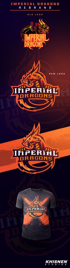 Imperial Dragons Logo #esport #gfx #esportlogo #gaming #sportbranding #sportlogo #illustrator #graphicdesign #behance #dragon
