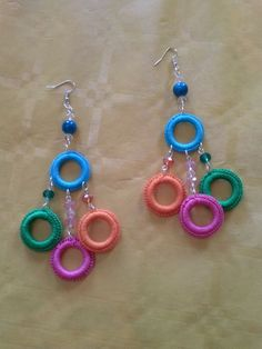 – crochet costume jewelery Best Picture For crochet braid styles For Your Taste You are looking for something, and it is going to tell you. Crochet Jewelry Patterns, Crochet Earrings Pattern, Crochet Accessories, Crochet Necklace, Beaded Earrings, Beaded Jewelry, Handmade Jewelry, Crochet Crafts, Crochet Projects