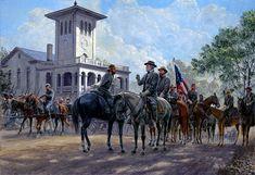 """""""Espíritu Invencible"""", AP Hill, Lee y Longstreet, Orange, agosto de 1863. Artista Mort Kunstler."""