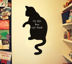Cat Chalkboard for Wall Cute Cat Silhouette for by ZCreateDesign