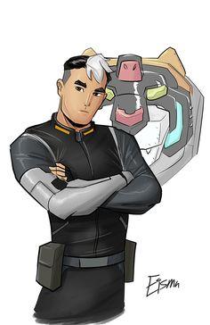 Shiro from Voltron: Legendary Defender - Joe Eisma