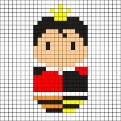 Queen of Hearts Perler Bead Pattern