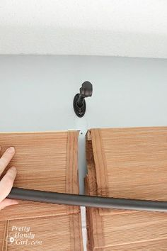 How to hang a curtain rod...great blog for a handy girl. ;)