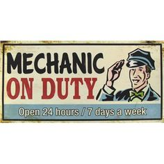 Open Road Brands Mechanic On Duty Tin Sign | Shop Hobby Lobby