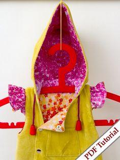Hooded Ruffles Sewing Pattern