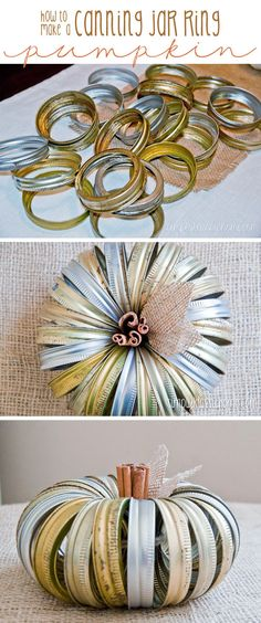 How To Make A Canning Jar Ring Pumpkin Pictures, Photos, and Images for Facebook, Tumblr, Pinterest, and Twitter
