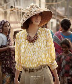Haute Design by Sarah Klassen: Welcome, Delightful May Safari Chic, Catalog Cover, Yellow Blouse, Yellow Top, Glamour, Beige, Personal Style, Anthropologie, Street Style
