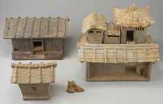 Model of a Farmstead, c. 1st-2nd century. Northern Vietnam, High-fired earthenware with accidental ash glazing. 2-1/4 x 14-1/4 x 14-1/4 in. (31.1 x 36.2 x 36.2 cm). Gift of the Asian Art Council. AN: 2001.31.6.1a-i. The Minneapolis Institute of Arts,