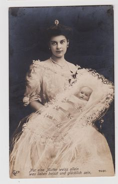RPPC Germany Crown Princess Cecilie with Baby Crown Prince Wilhelm C 1906 | eBay