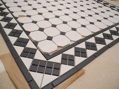 Пол ванной комнаты керамика topcer white octagon