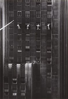 Inge Morath, Window Washers, 48th Street, New York, 1958