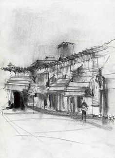 Saraie Golshan1 by Behzad Bagheri Sketches, via Flickr