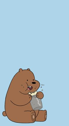 flos-chorum — [We Bare Bears pastel lockscreens] pls like or. Grizzly Bear Facts, Grizzly Bear Drawing, Grizzly Bear Tattoos, Grizzly Bears, Wallpaper Gatos, Bear Wallpaper, Pastel Wallpaper, Pastel Lockscreen, Wallpaper Tumblr Lockscreen