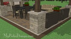 16 ft. x 16 ft. Pergola with Columns Design | Perfect for Shading Larger Sized Areas | Download Plans at MyPatioDesign.com