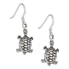 Sterling Silver Antiqued Turtle Earrings. http://todaydeals.me/viewdetail.php?asin=B007VCTVLO