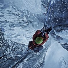 Hanging by a thread | photo: Renan Ozturk #adventure #climbing