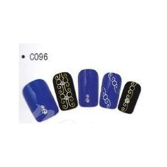 Stickers d'ongles Nail art Water decal argenté
