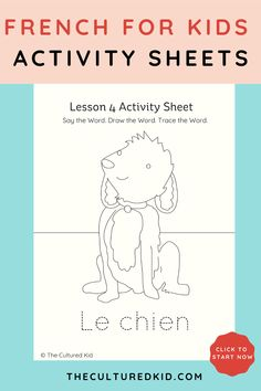Want to teach your kids the French language at home? Our kids French language resources are the best way to give your kids a language each day. Activity Sheets For Kids, Activities For Kids, Learning Spanish, Kids Learning, New Vocabulary Words, Language Lessons, Teaching French, Learn French, French Language