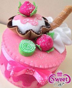 #sweet #sweetfelt #felt #handmade #creation #pannolenci #dolci #cucitocreativo #cucito #feltro #creazioni #madewithlove #sew #sewing #fattoamano #artigianato #idearegalo #craft  #faidate #creatività #madeinitaly #fieltro #feltcraft #mycreation #feltcakes #cupcake #handmadewithlove #cucitoamano #pannolencimania #apaixonadosporfeltro 💕🤗
