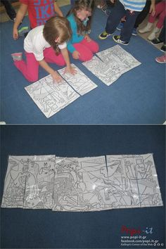 Γκουέρνικα - Picasso | Πόλεμος και Ειρήνη ! Picasso Kids, Picnic Blanket, Outdoor Blanket, 28th October, Guernica, Art School, Monet, Parenting, Kids Rugs