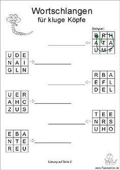 Wortschlange Rätsel