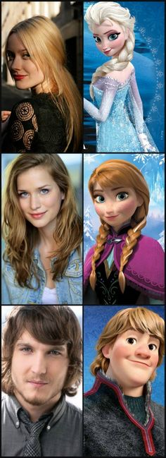 And here they are!- Georgina Haig as Elsa, Elizabeth Lail as Anna, and Scott Michael Foster as Kristoff
