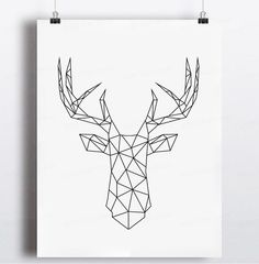 Aliexpress.com : Buy Geometric Deer Head Canvas Art Print Poster, Wall Pictures for Home Decoration, Wall decor FA221 8 from Reliable picture manufacturers suppliers on 900D  | Alibaba Group: