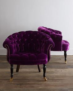 Purple velvet #chairs #furniture