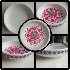 Dot Art Painting, Mandala Painting, Pottery Painting, Pottery Art, Art Installation, Diy Xmas Gifts, Color Me Mine, Mandala Painted Rocks, Paint Your Own Pottery