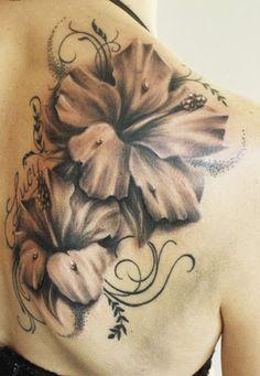Realism Flowers Tattoo by Steffi Eff?