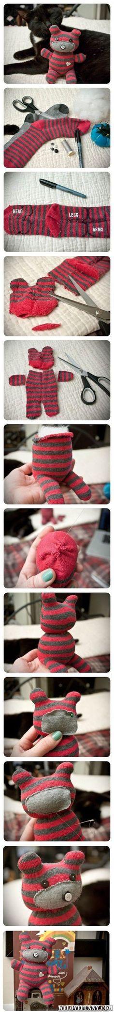 DIY Cute Sock Tiger