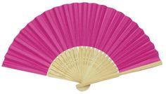 """Folding Paper Hand Fan 8.25"""" Fuchsia"""